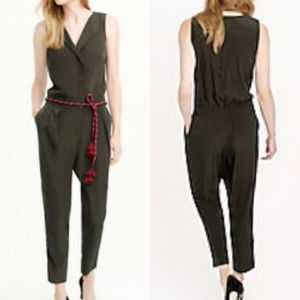 J CREW TRENCH JUMPSUIT ~ 10 ~ GREEN ~ GORGEOUS!!!!